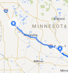 ST CLoud MN to Fergus Falls MN