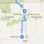 Chadron NE to Hemingford NE