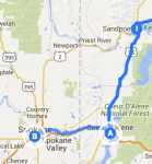 Couer d'Alene to Spokane