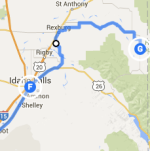Idaho Falls to Driggs