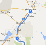 Pocatello to Idaho Falls