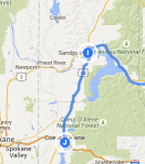 Sandpoint to Coeur d'Alene