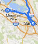 San Jose to Palo Alto