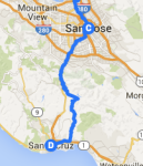 San Jose to Santa Cruz