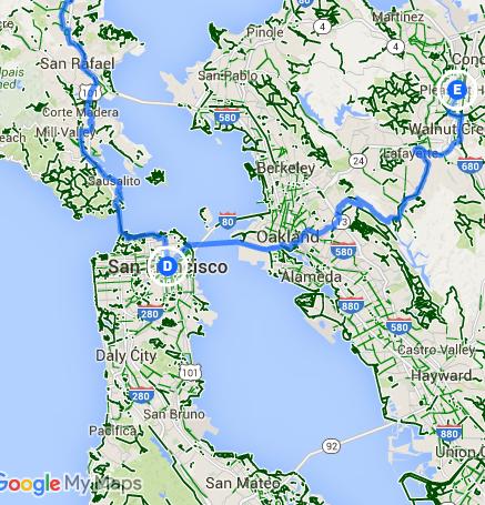 Trip Log Day 161 San Francisco CA to Pleasant Hill CA How