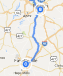 to Fayetteville